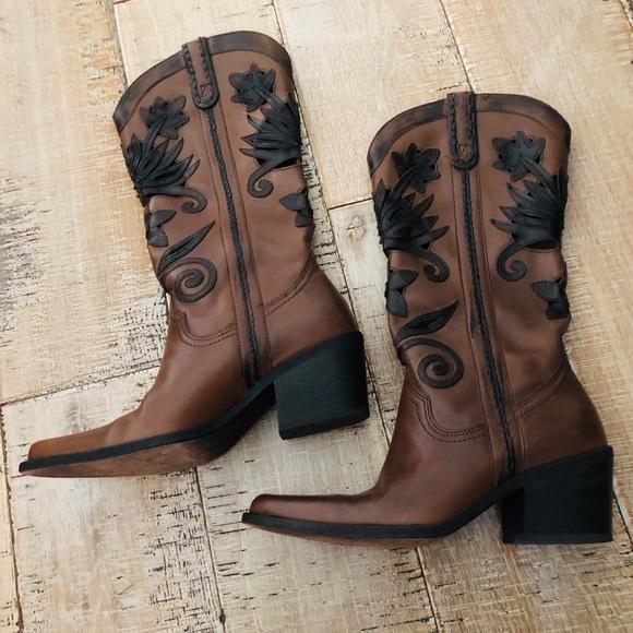 Carlos Santana Cowgirl Boots Slinger